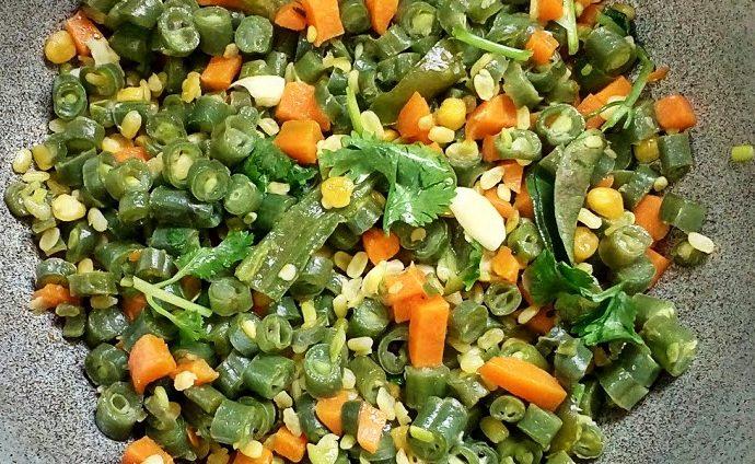 Carrot beans poriyal 2