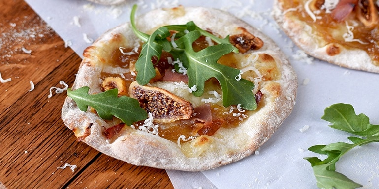Fig & Prosciutto Pizzettas