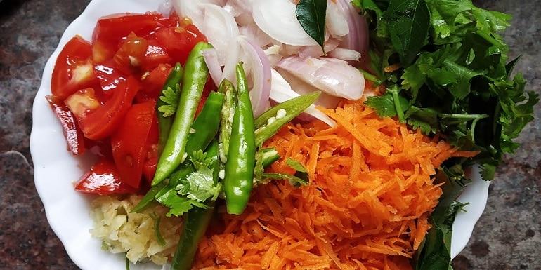 Simple carrot rice recipe
