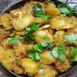 boiled potato fry