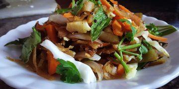 Chapati Ribbon Noodles Recipe
