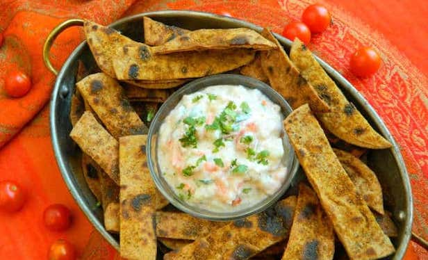 Leftover Chatpati Roti Chips