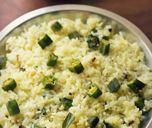 bhindi-rice-recipe