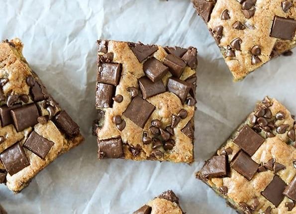 chocolate chunk bar cookies