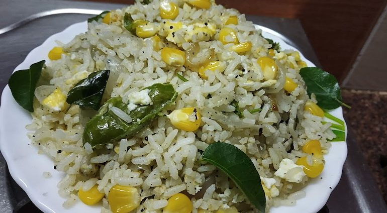 Egg Corn Fried Rice Recipe