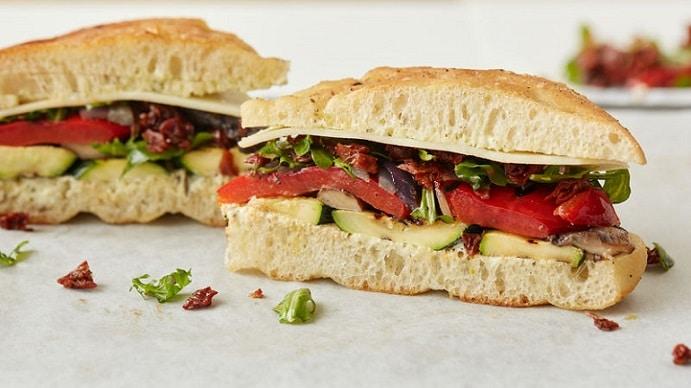 focaccia grilled sandwich