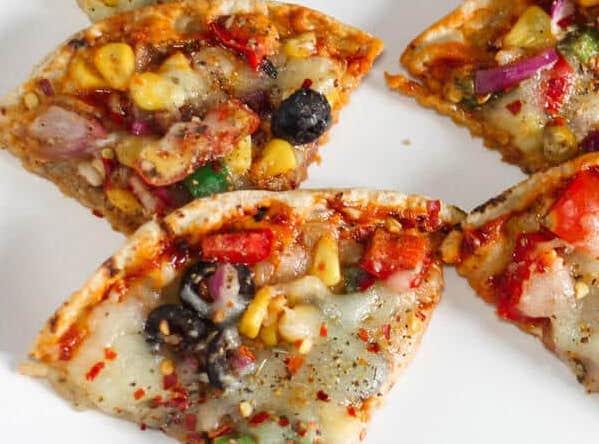 leftover roti pizza