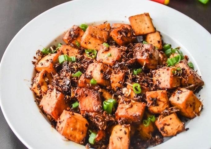 spicy garlic tofu