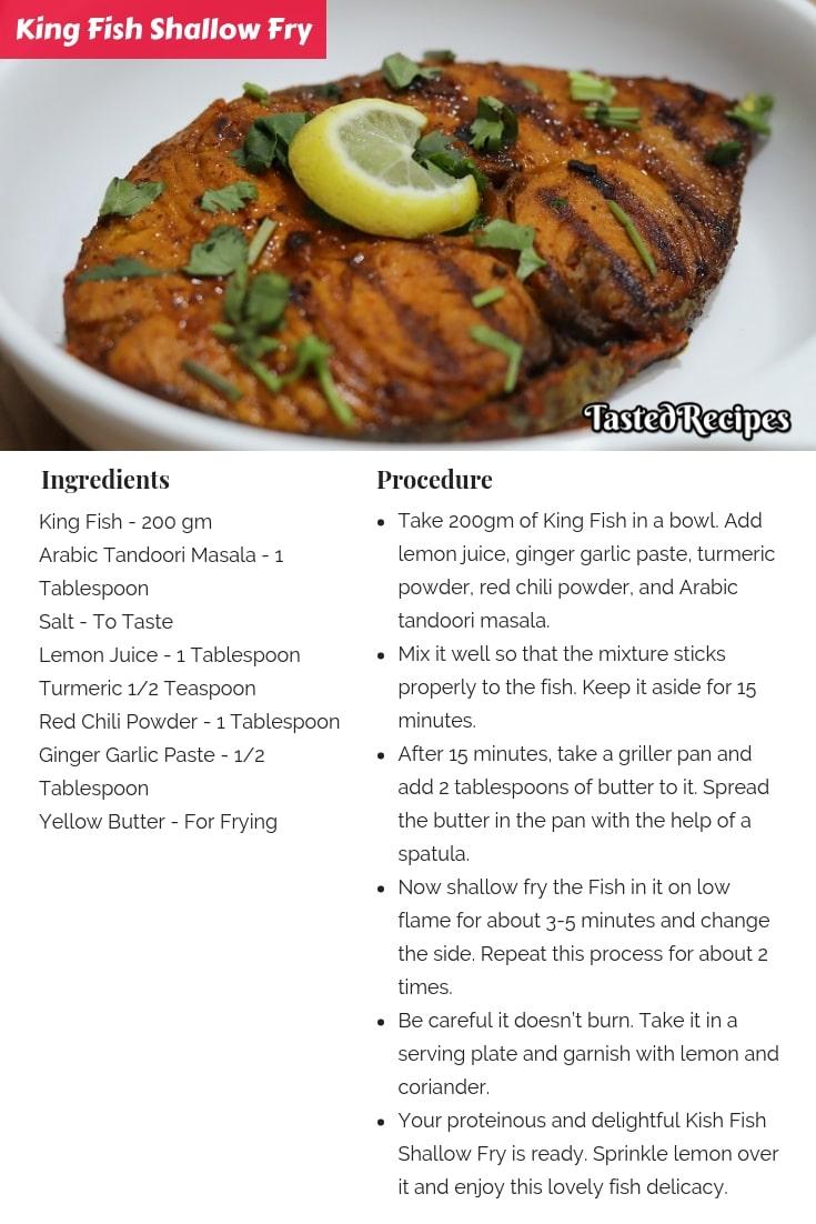 King Fish Shallow Fry