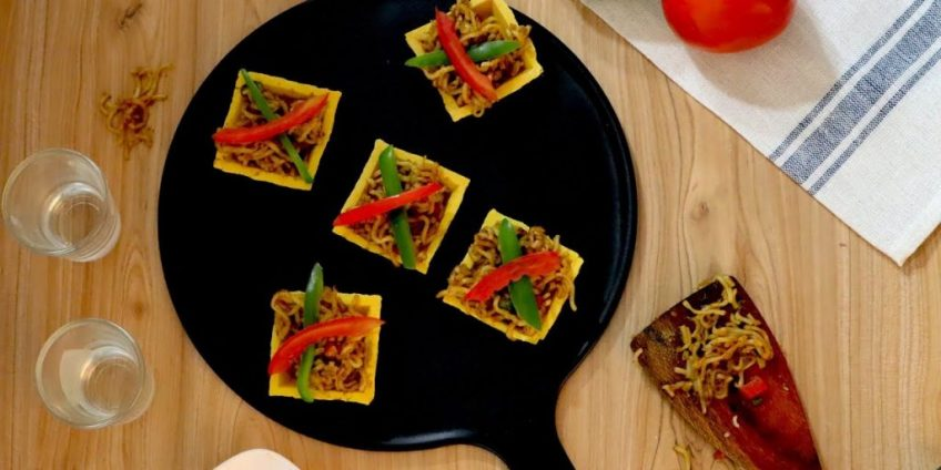 Maggi Canapes Chaat Recipe