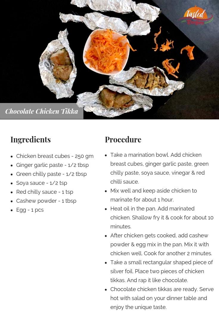 Chocolate Chicken Tikka