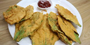 palak fritters