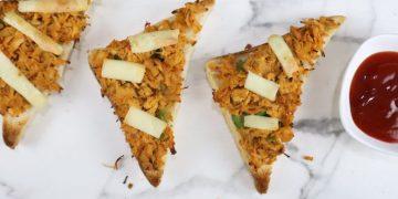 chicken tandoori open toast