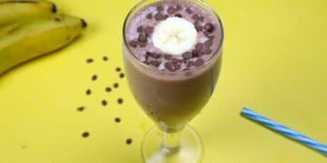chocolate banana milkshake
