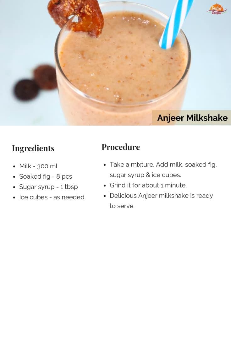 anjeer milkshake