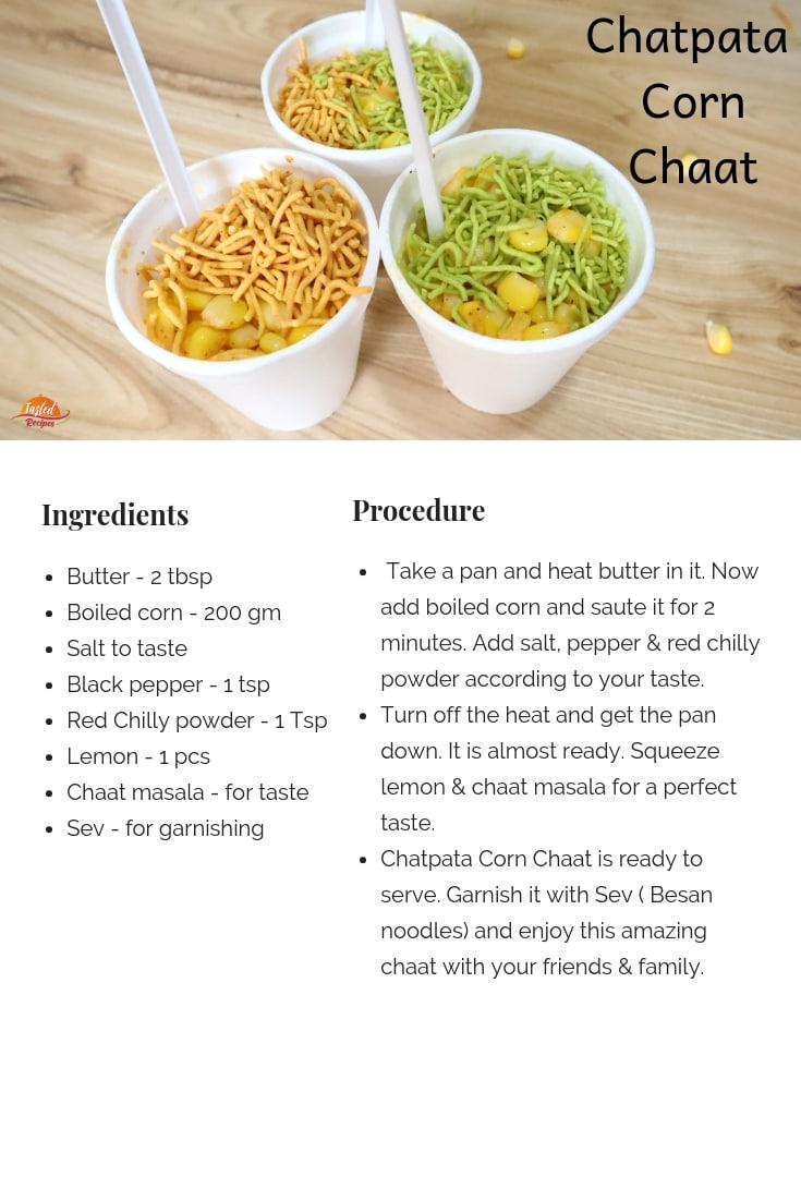 Chatpata corn chaat
