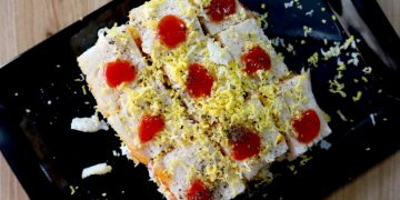 grated boiled egg sandwich