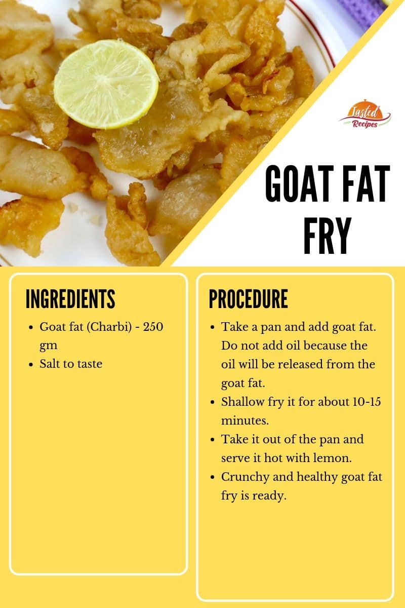Goat fat fry recipe card