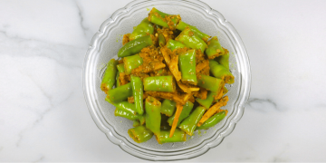 instant green chilli and ginger pickle