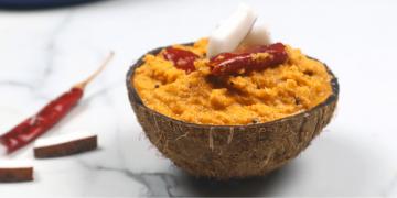 red coconut chutney
