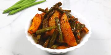 masala aloo green beans sabji